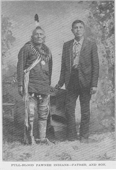 pawnee indians father and son
